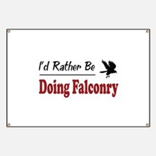 Rather Be Doing Falconry Banner