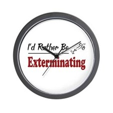 Rather Be Exterminating Wall Clock