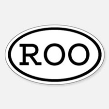 ROO Oval Oval Decal