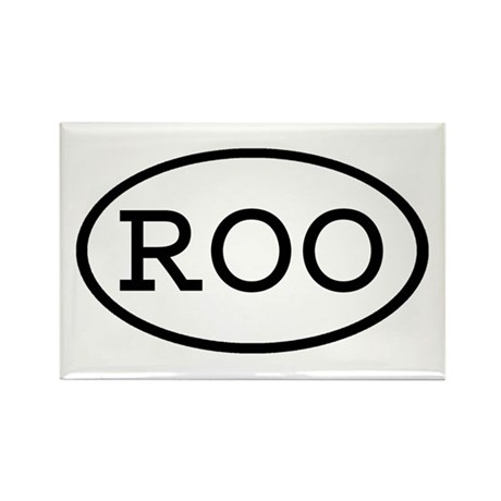ROO Oval Rectangle Magnet