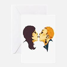 Lesbian Kiss Greeting Card