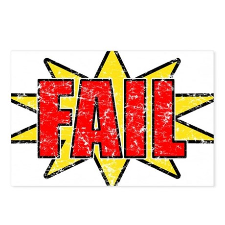 FAIL Postcards (Package of 8)