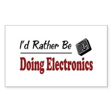 Rather Be Doing Electronics Rectangle Decal