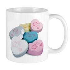 Vespa Scooter Candy Hearts Mug