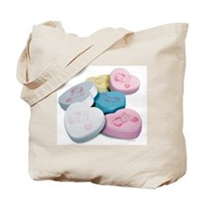 Vespa Scooter Candy Hearts Tote Bag