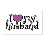 I Love My Husband Rectangle Sticker