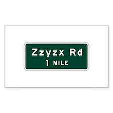 Zzyzx, CA (USA) Rectangle Decal