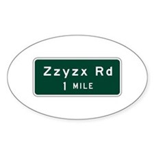 Zzyzx, CA (USA) Oval Decal
