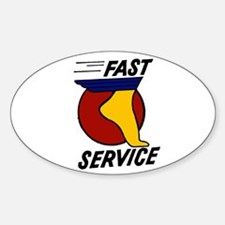 Fast Service Oval Decal