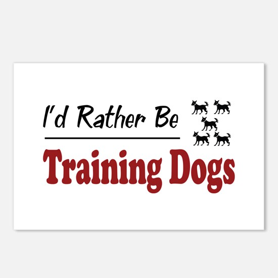 Rather Be Training Dogs Postcards (Package of 8)