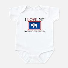 I Love My Wyoming Girlfriend Infant Bodysuit