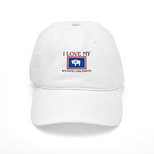I Love My Wyoming Girlfriend Baseball Cap