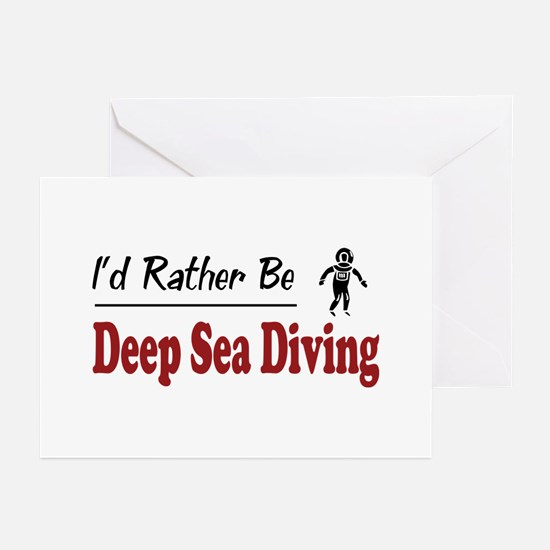 Rather Be Deep Sea Diving Greeting Cards (Pk of 10