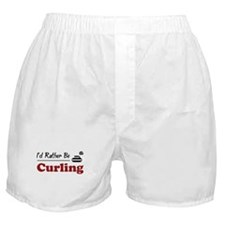 Rather Be Curling Boxer Shorts