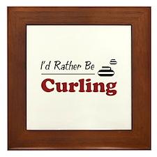 Rather Be Curling Framed Tile