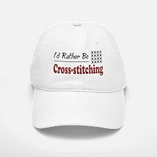 Rather Be Cross-stitching Baseball Baseball Cap