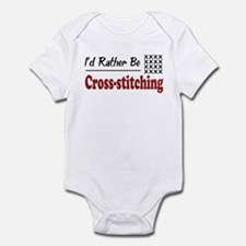 Rather Be Cross-stitching Infant Bodysuit