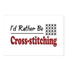 Rather Be Cross-stitching Postcards (Package of 8)