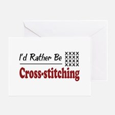 Rather Be Cross-stitching Greeting Card