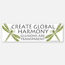 Create Global Harmony Bumper Bumper Bumper Sticker