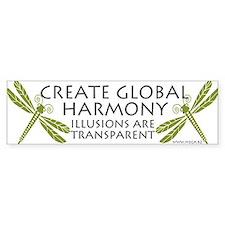 Create Global Harmony Bumper Bumper Sticker