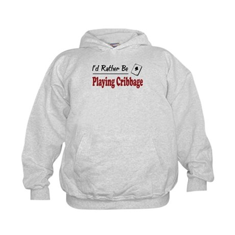 Rather Be Playing Cribbage Kids Hoodie