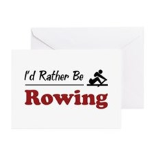 Rather Be Rowing Greeting Cards (Pk of 10)