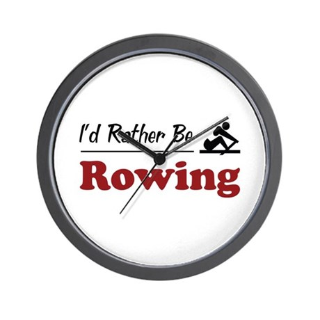 Rather Be Rowing Wall Clock