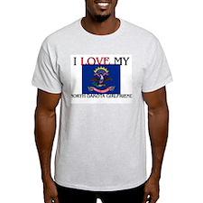 I Love My North Dakota Girlfriend T-Shirt