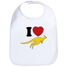 I Love Roos Bib