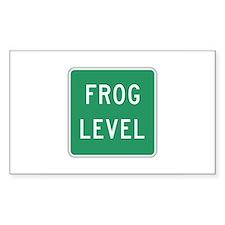 Frog Level, VA (USA) Rectangle Decal