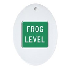 Frog Level, VA (USA) Oval Ornament