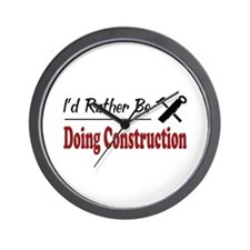 Rather Be Doing Construction Wall Clock