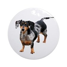 Spotted Doxie Ornament (Round)