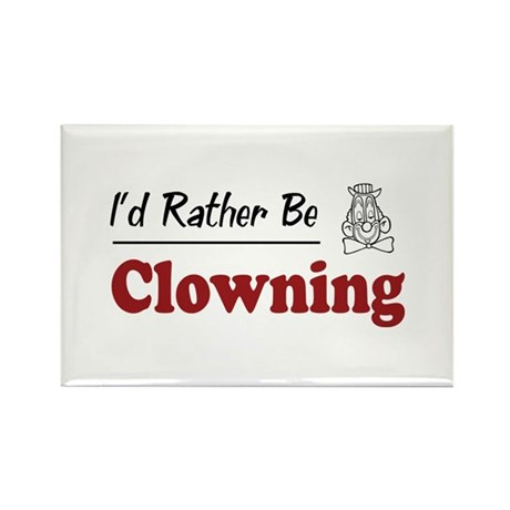Rather Be Clowning Rectangle Magnet (100 pack)