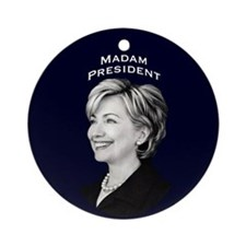 Madam President Ornament (Round)