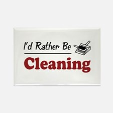 Rather Be Cleaning Rectangle Magnet (100 pack)