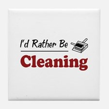 Rather Be Cleaning Tile Coaster