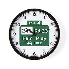 Fair Play, SC (USA) Wall Clock