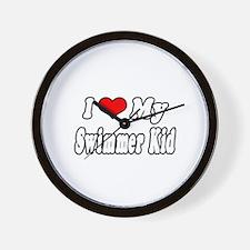 """I Love My Swimmer Kid"" Wall Clock"