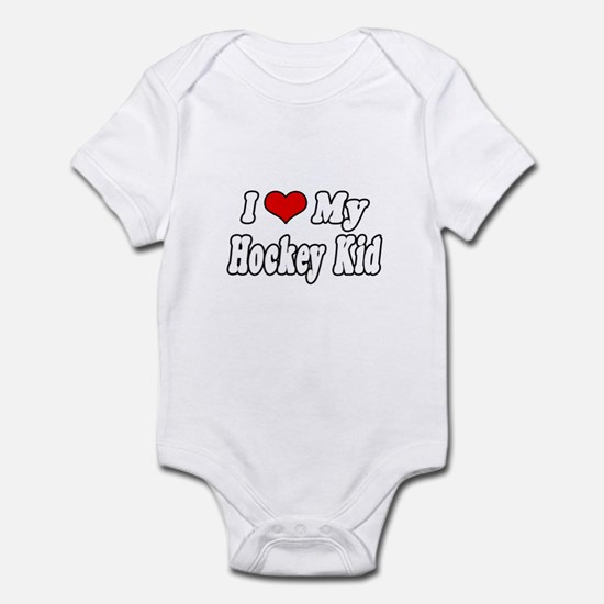 """I Love My Hockey Kid"" Infant Bodysuit"