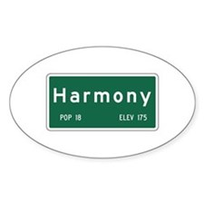 Harmony, CA (USA) Oval Decal