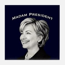Madam President Tile Coaster