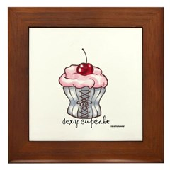 Sexy Cupcake Framed Tile