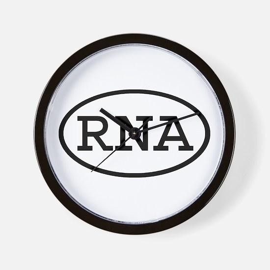 RNA Oval Wall Clock