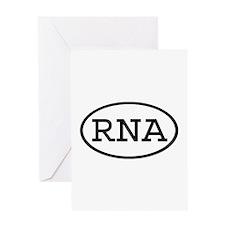 RNA Oval Greeting Card