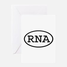 RNA Oval Greeting Card
