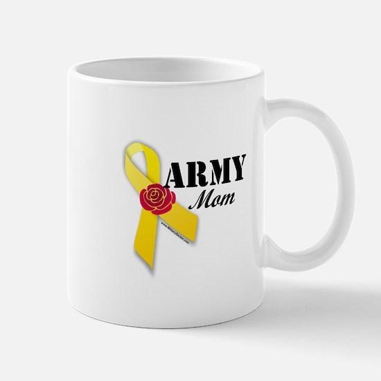Army Mom (Ribbon Rose) Mug