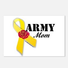 Army Mom (Ribbon Rose) Postcards (Package of 8)