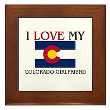 I Love My Colorado Girlfriend Framed Tile